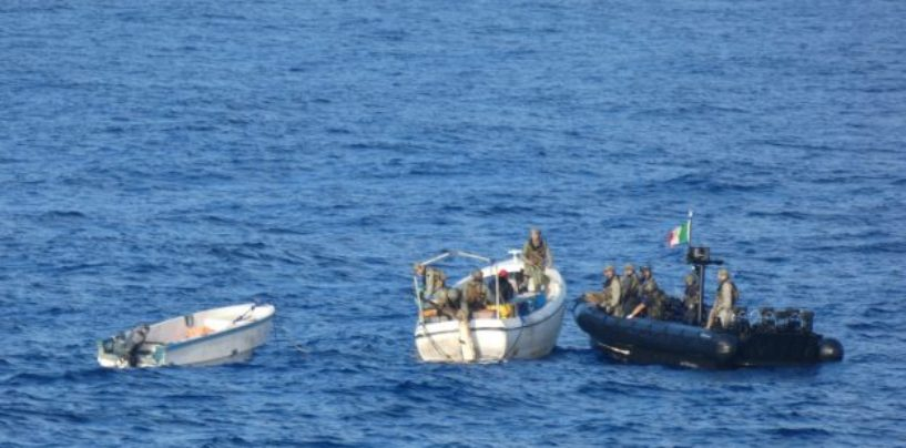 EUNAVFOR chases and captures suspected pirates